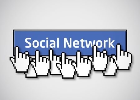 socializing: Social network button 2