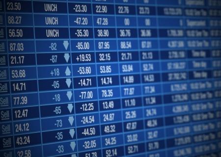 Stock Market board Stock Photo - 10890651