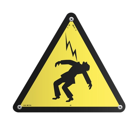 high voltage: Danger High Voltage panel Illustration