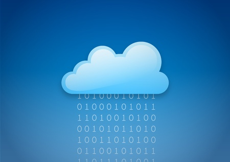 cloud sky: Cloud computing Illustration