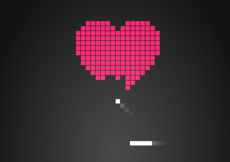 broken screen: Broken heart