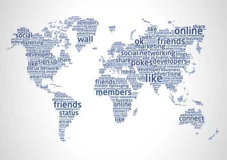 The world of social networking 2 Stock Vector - 10983691