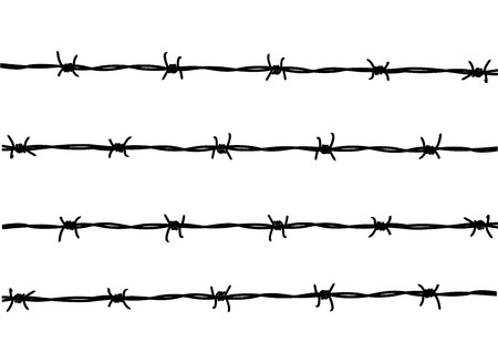 wire rope: barbed wire Illustration