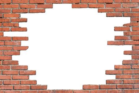 muro rotto: muro distrutto Archivio Fotografico