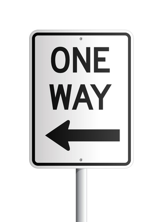one way sign: One Way board