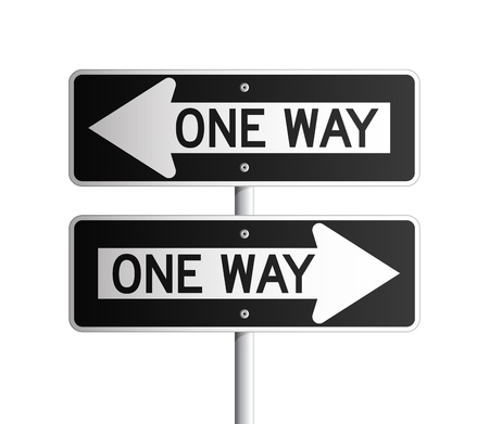 one to one: One way board 2