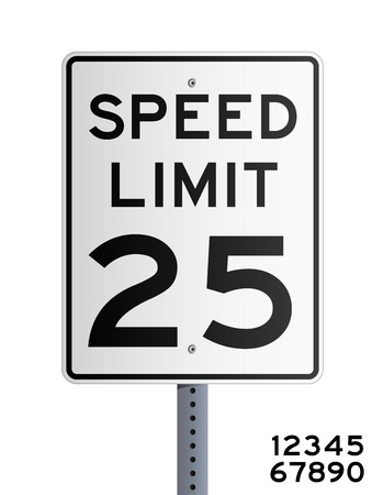 señal de transito: Límite de velocidad Vectores