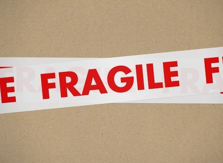 signaling: cardboard - Fragile Stock Photo