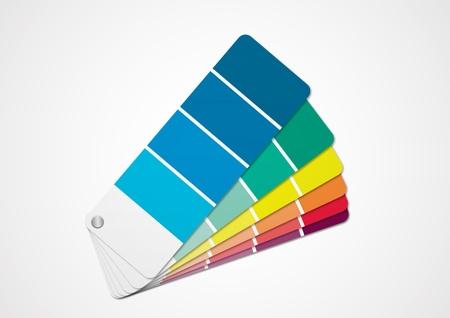leque: Cartela de cores Ilustra��o