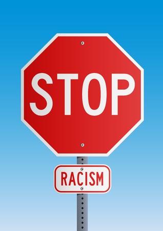 Stop Racism Stock Vector - 12186318
