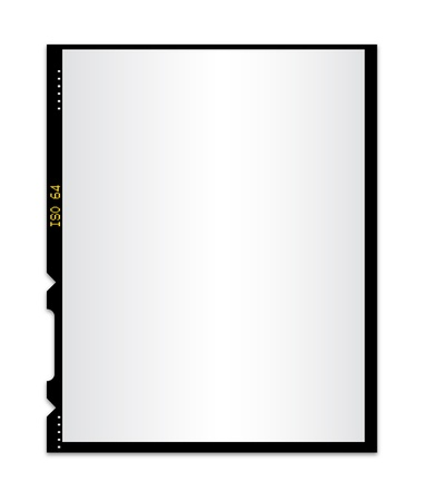 Blank photo film isolated 2 Illustration