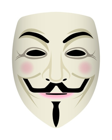 computer hacker: Anonymous face
