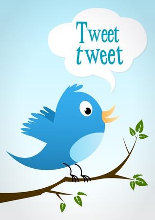 bluebird on a branch Stock Vector - 12186329