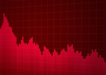 Stock chart down Stock Photo