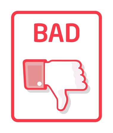 dislike: Thumb slecht Stock Illustratie