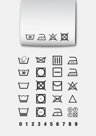 solvant: Symboles de lavage Illustration