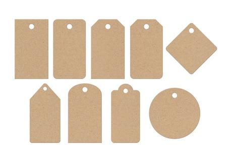 Cardboard labels Banque d'images