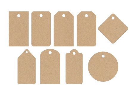 cardboard: Cardboard labels Stock Photo