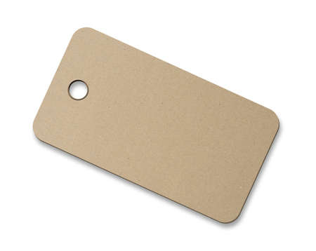Cardboard blank label Stock Photo - 12552432