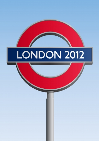 olympic symbol: London 2012 sign