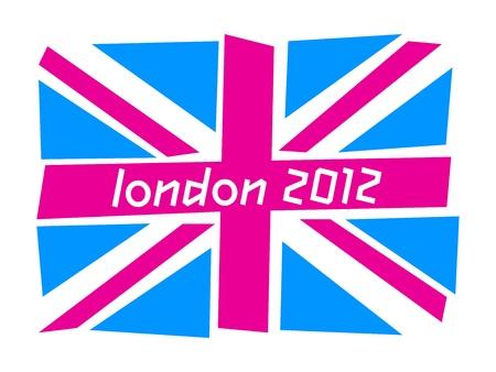 bandera de reino unido: Bandera del Reino Unido Londres 2012 Editorial