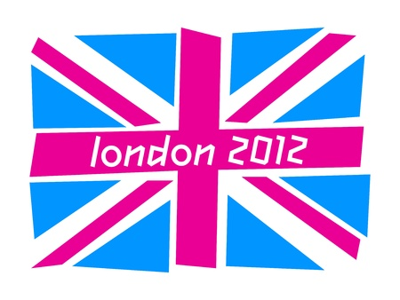 UK flag London 2012 Stock Photo - 12495107