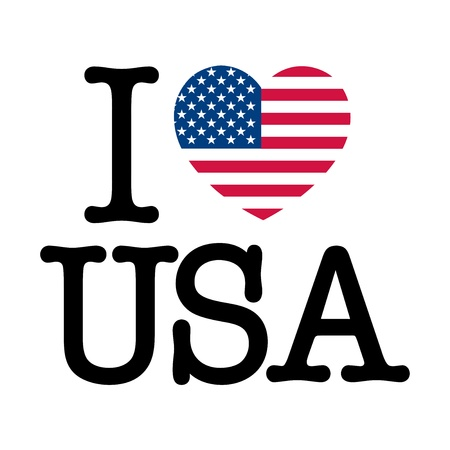 flag of usa: I Love USA