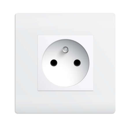 electric hole: Isolated outlet Illustration