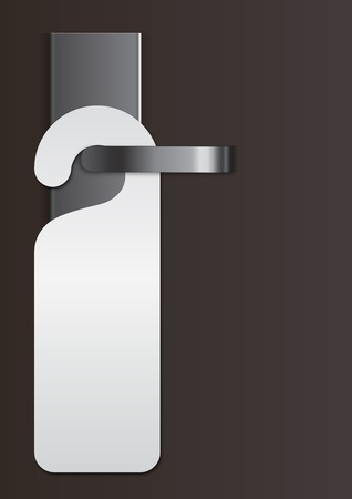 door handle with virgin label Vector