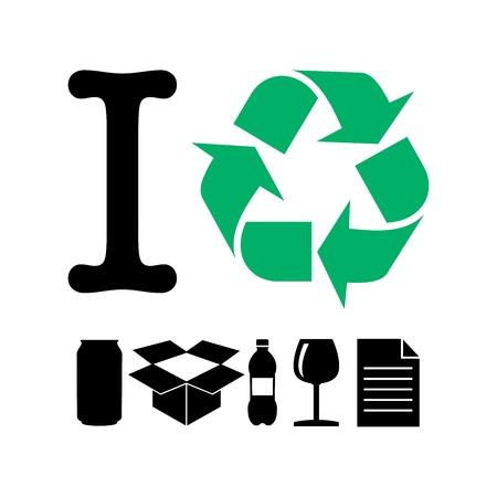 I Recycle  イラスト・ベクター素材