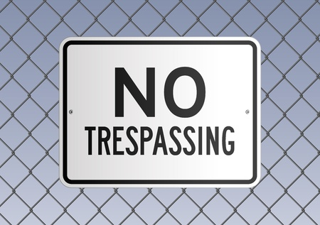 chain fence: No trespassing