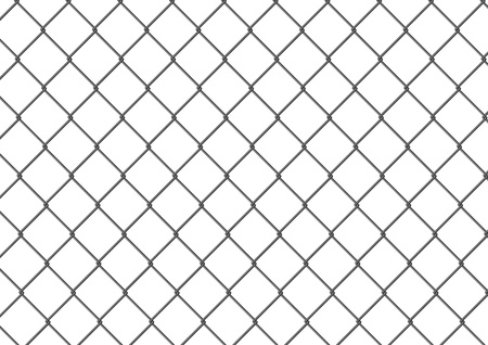 Isolated chain link fence