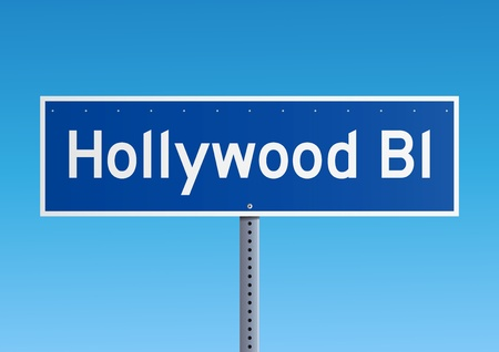 hollywood boulevard: Hollywood Bl sign Illustration