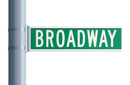 broadway show: Broadway segno Vettoriali