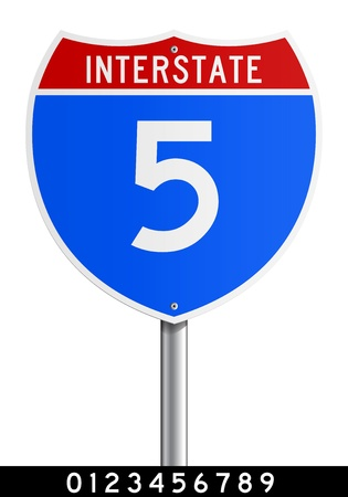 modifiable: Editable Interstate sign