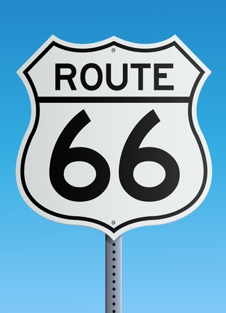 Route 66 sign  イラスト・ベクター素材
