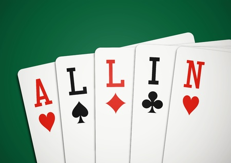 poker game: Cards All in Illustration