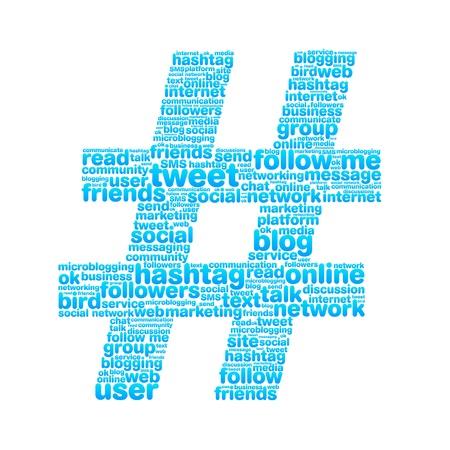 Hashtag  イラスト・ベクター素材