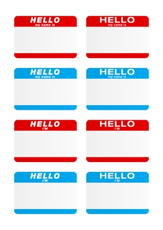 introduction: Stickers - Hello my name is