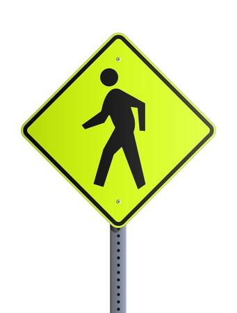 Crosswalk roadsign Stock Vector - 13544159