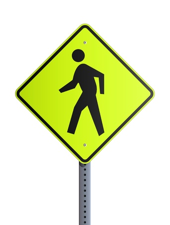 crosswalk: Crosswalk roadsign