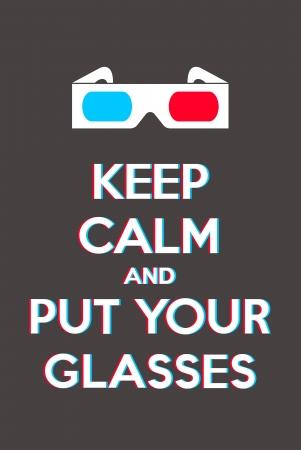 profundidad: Mantenga la calma y poner las gafas Vectores