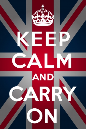 bandiera inghilterra: Mantenere la calma e continuare - Union Jack
