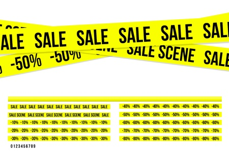 Criminal sale ribbons Illustration