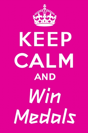keep: Keep calm and win medals Illustration
