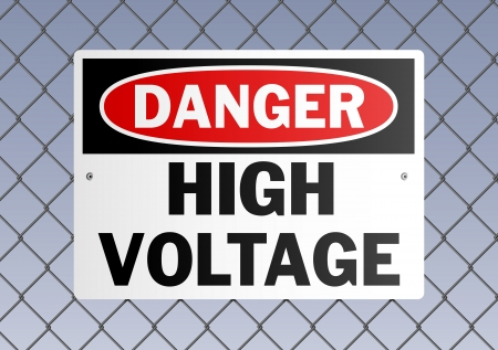 panneaux danger: Danger haute tension Illustration