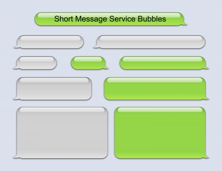 texting: Short Message Service Bubbles