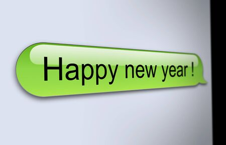 short message service: Happy new year SMS Stock Photo