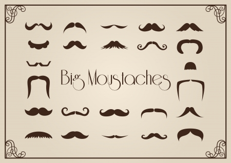 Mustaches collection  イラスト・ベクター素材