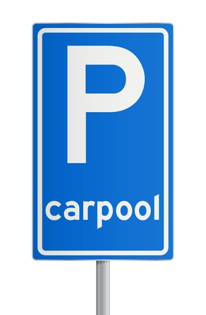 Carpool roadsign